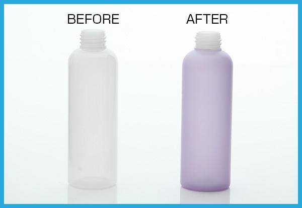 プラスチック塗装/ボトル(カラークリアー塗装:機能性塗装)
